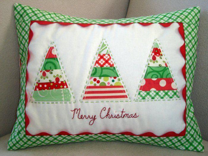 Sofa Kissen mit DIY Kissenhülle zu Weihnachten