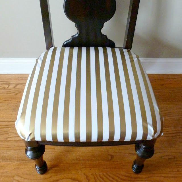 How to Reupholster Dining Chairs in Oilcloth | Design Improvised