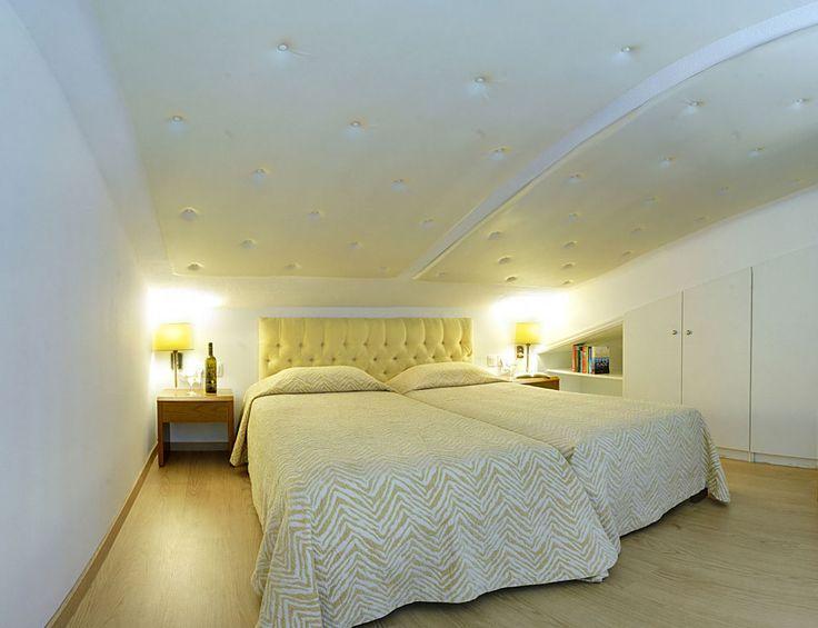 Mezzanine sleeping area.