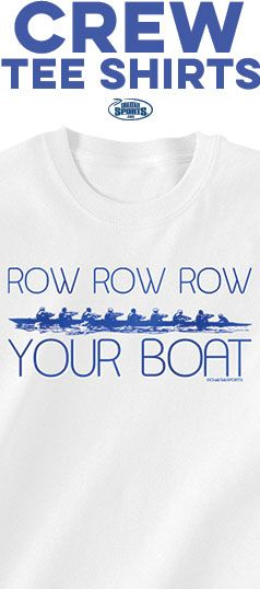 """Rowing.... it's what we do! Rep your love for crew with our fun March """"Tee of the Month""""!"""