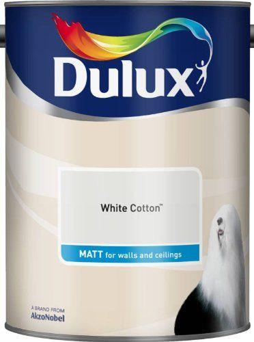 Dulux 500006 DU Matt Paint, 5 L - White Cotton