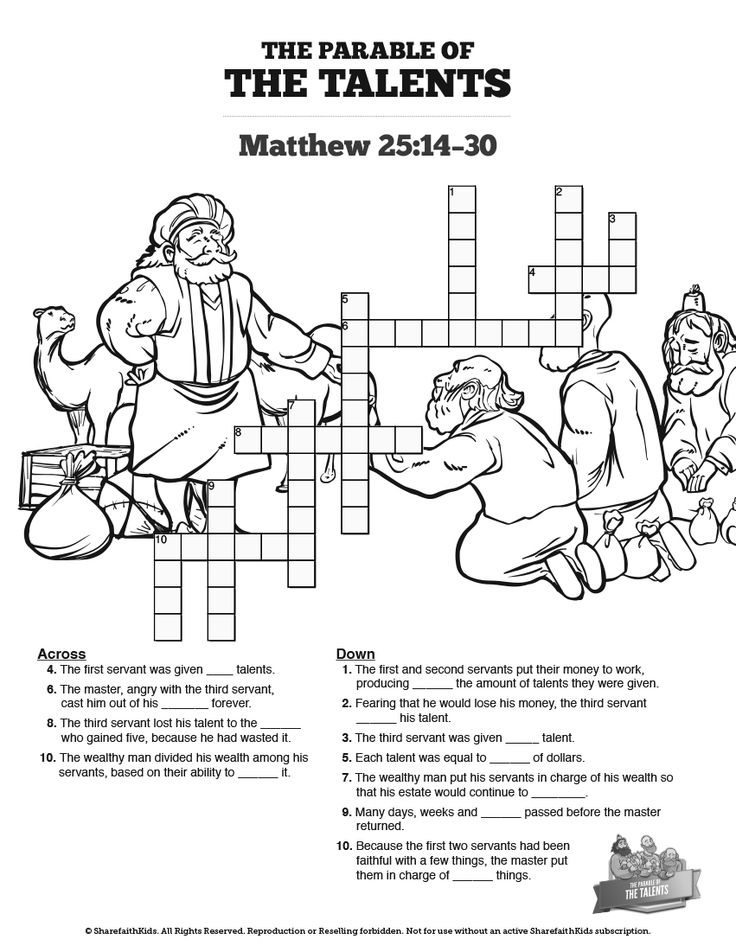 matthew 25 coloring pages - photo#25
