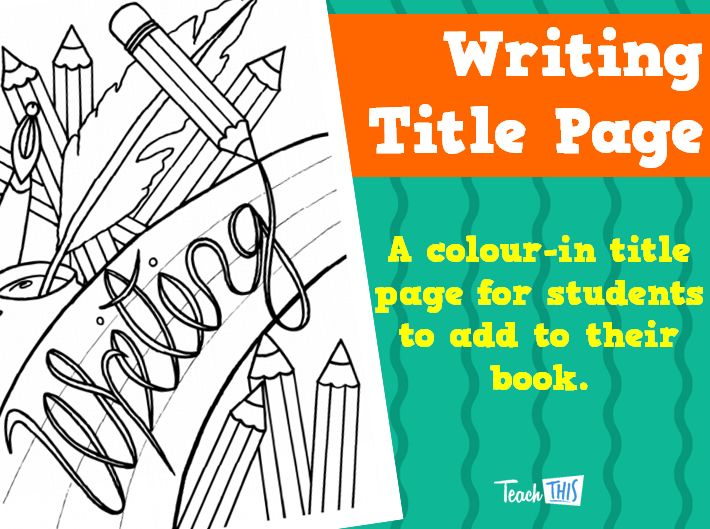 writing a title page
