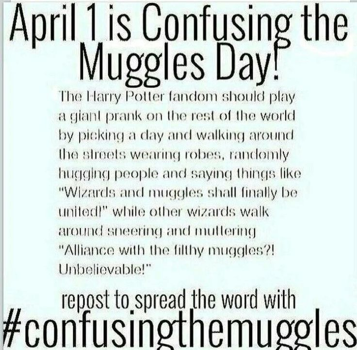 #confusingthemuggles LETS DO IT 1st of April 2017b