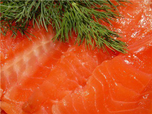 Необычный рецепт : красная рыба,засоленная в морозильнике