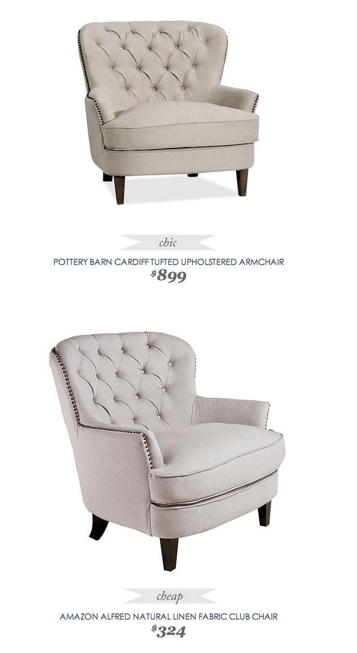 Bauer plantation chair - Linen Club Chair 324