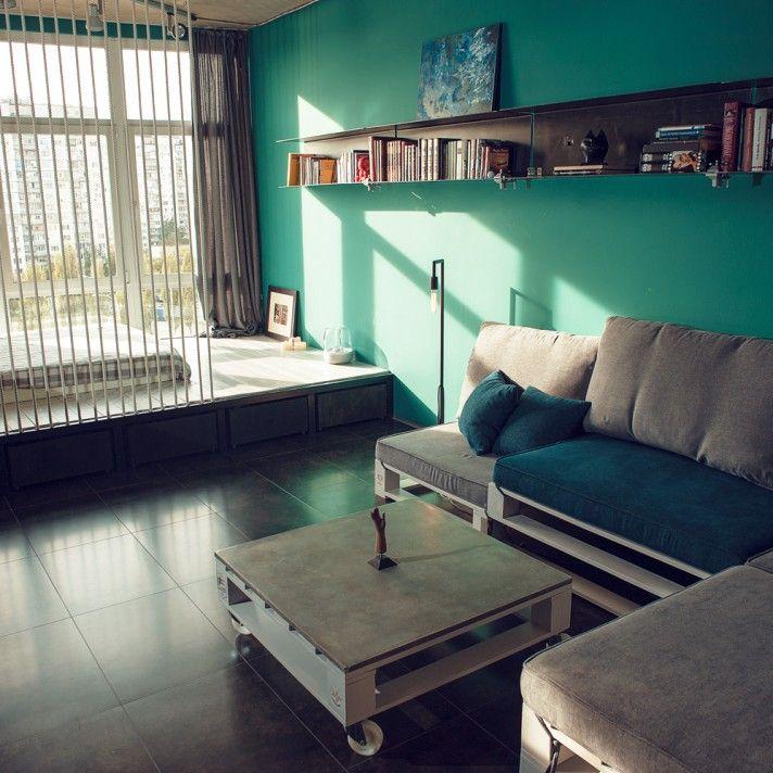 Дизайн интерьера гостиной, стиль - лофт: фото, идеи дизайна, каталог - oselya.ua