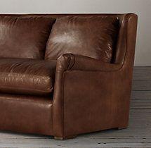 6' Belgian Wingback Leather Sofa