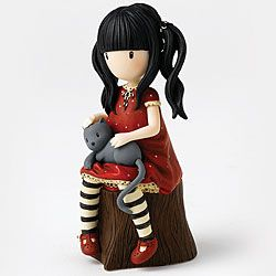 Ruby Figurine - With a hint of nostalgia which instils comfort and tranquility, these Gorjuss™ figurines reflect the beauty and precious nature of the Suzanne Woolcott artwork.