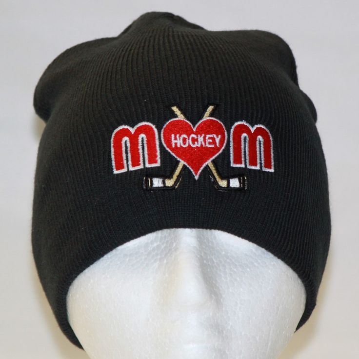 Hockey Mom Black Beanie Toque - Hollywood Filane
