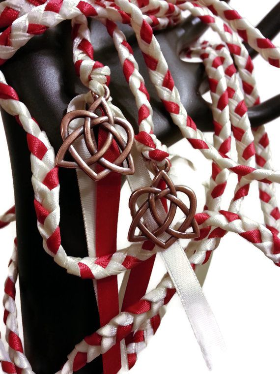 Copper Celtic Heart  Knot Wedding Hand Fasting/ by DivinityBraid