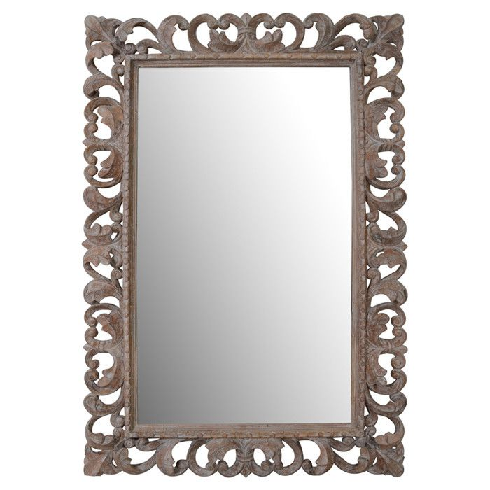 Lyanna Wall Mirror From Joss Main Hand Carved Wood Features A Scrolling Openwork Frame 47 H X 31 W 2 D 23 On The