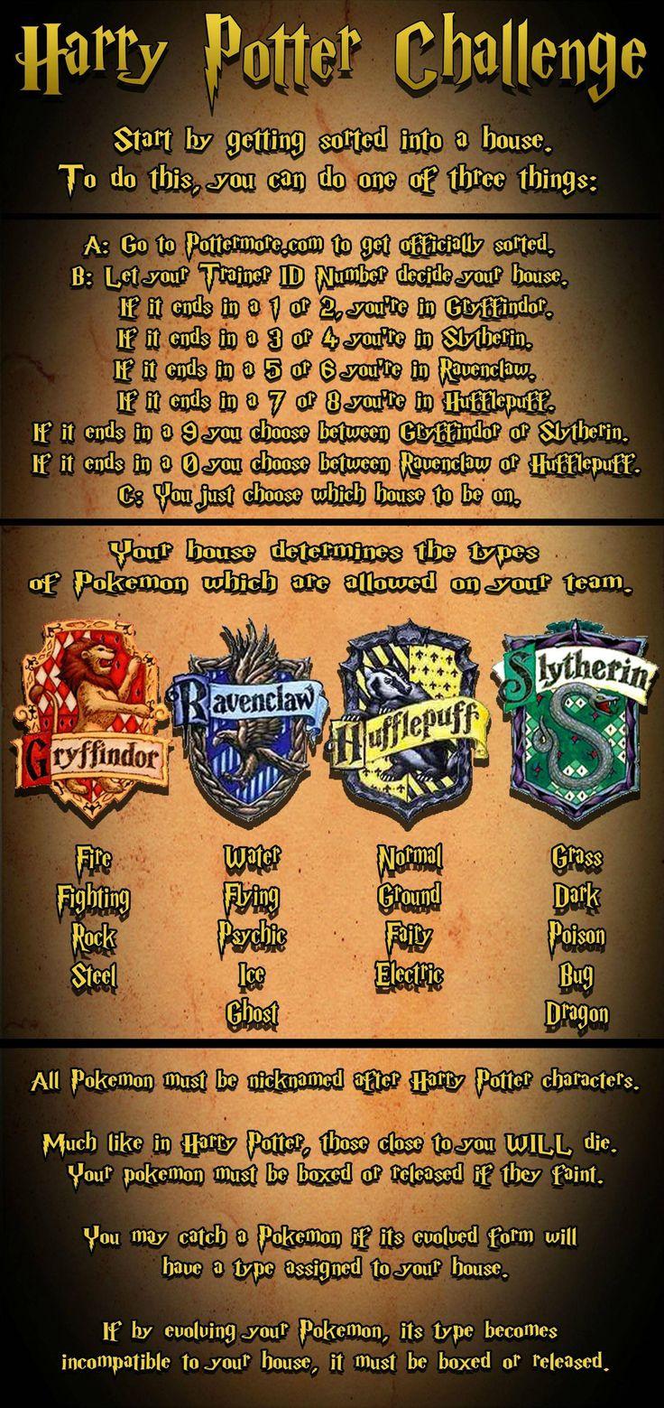 Harry Potter Pokémon Challenge