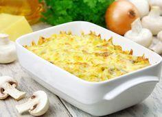 Пісні страви рецепти, Картопляна запіканка з грибами