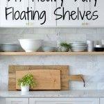 DIY: Heavy Duty, Bracket-Free Floating Kitchen Shelves