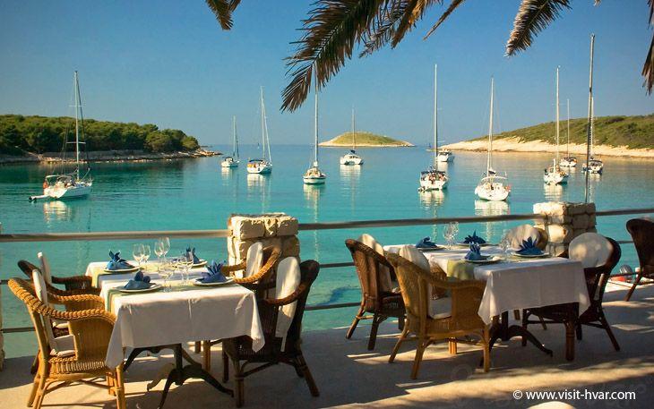 Palmizana beach, Pakleni Islands - Visit-Hvar, Croatia ~ Dinner here after a boating excursion?