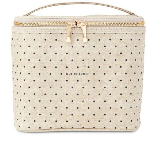 Kate Spade New York Canvas Lunch Tote Deco Dots Out To Lunch - Women's ($30) ❤ liked on Polyvore featuring home, kitchen & dining, food storage containers, canvas, lunch totes, polka dot lunch tote, canvas lunch tote, kate spade and lunch carrier