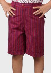 Van Batik  Van Batik Celana Pendek Lurik Ungu