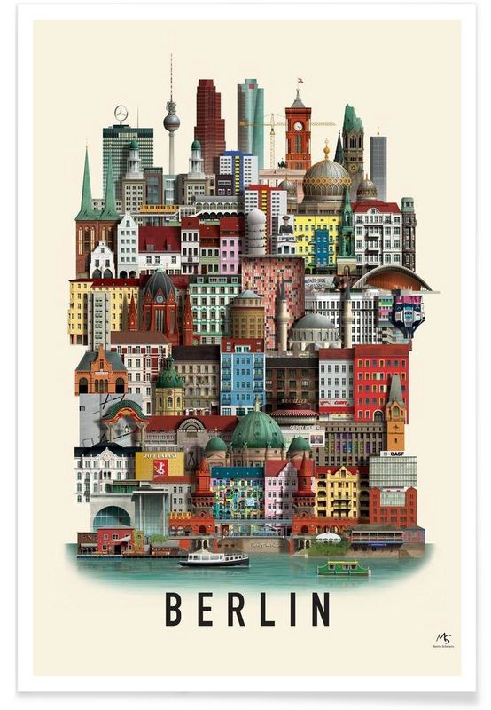 Berlin - Martin Schwartz - Premium poster