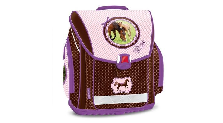 My Horse Kompakt Easy Iskolatáska, lányos - Lovas - KÉT ÉV GARANCIÁVAL! Rendkívül könnyű súlyú, formatartó szerkezetű. Gerinckímélő, vastagon párnázott, hálós anyaggal borított ergonómikus hátkiképzéssel. Puha, méretre állítható vállpántokkal és plussz állítható pántokkal, amelyekkel szabályozható, mennyire álljon feszesen a gyermek hátához simulva a táska. Nagyon jó minőségű, vízlepergető anyagból készült, minden oldalán merevítéssel. Méret:  37x19x34 cm.