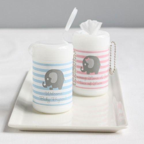 Personalized Elephant Mini Wet Wipes
