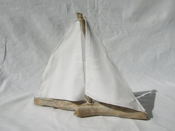 Barca a vela legno di mare decorazione centrotavola di H2ONDE