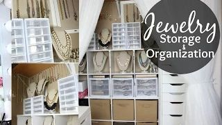 bedroom wardrobes artificial jewellery storage idea - YouTube