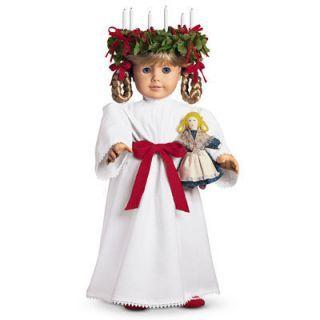 kirsten american girl doll retired   Kirsten American Girl St Lucia Gown American Girl Tag for Doll RETIRED
