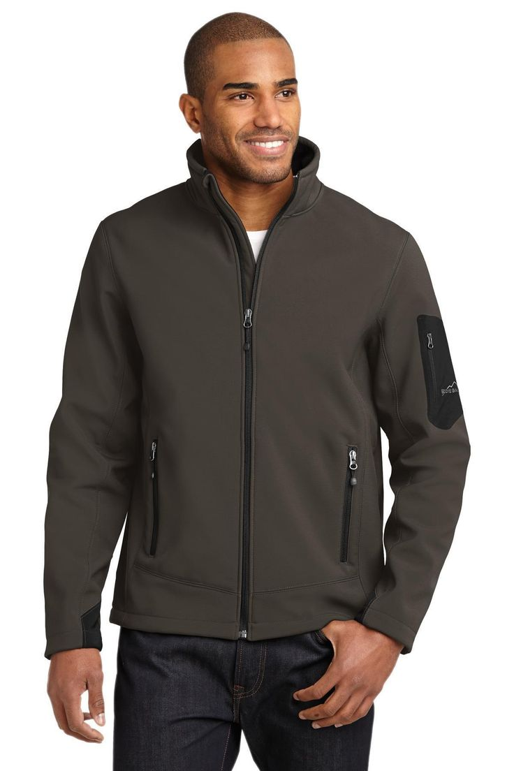 Eddie Bauer  Rugged Ripstop Soft Shell Jacket. EB534 Grey Steel/ Black / L