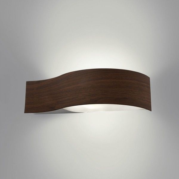Philips myLiving Lakeport Curved Wall Light - Wood from Litecraft