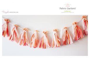 Cute Tassel Garland DIYFabrics Garlands Or, Fabricgarland, Diy Crafts, Crafty, Diy Fabrics, Buntings, Diy Garlands, Garlands Diy, Ribbons Garlands