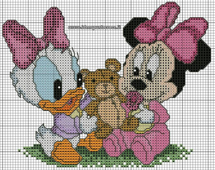 Baby Daisy Duck and Minnie Mouse (no color chart)
