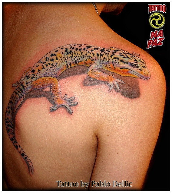 Tatuagem de Lagarto , Lizard Tattoo by Pablo Dellic in Oslo - Norway by Pablo Dellic , via Flickr