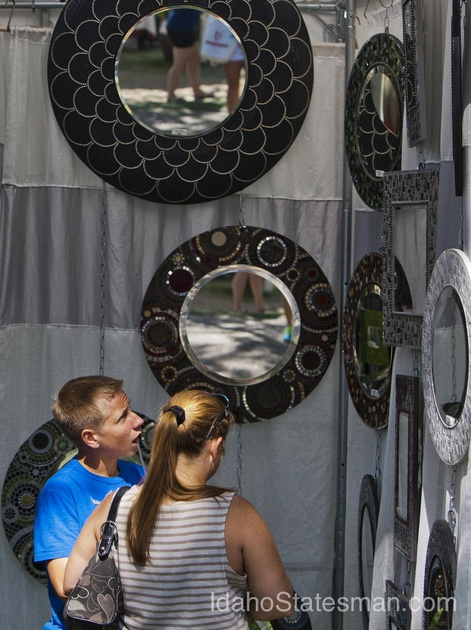 Boise's Art In The Park 09/08/2012   Local News Photos   Idahostatesman.com    see that big one in the middle? yeah we bought that!!! yay