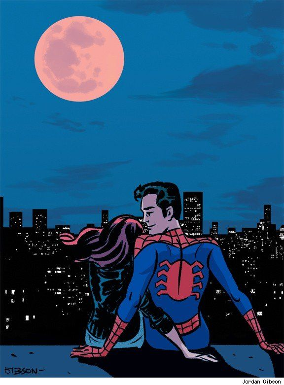 Mary Jane Watson and Peter Parker by Jordan Gibson - Best Art Ever (This Week) - 11.30.12