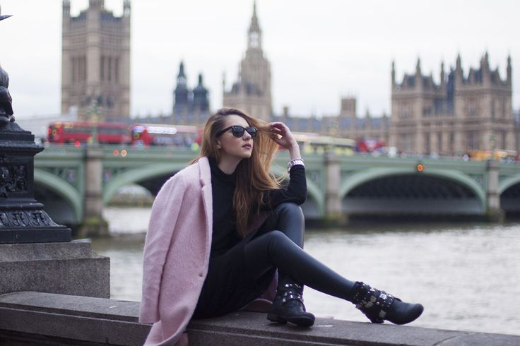 street style, designer, street wear, outfit, ootd, style, stylish, love, fashion, last minute couture, luana codreanu, blog, blogger, fashion blog, fashion blogger, lifestyle, travel, beautiful, pink, coat, Big Ben, London, rainy, LFW, London Fashion Week, black, love, makeup, hairstyle