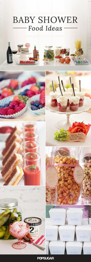 Since baby showers are frequently held mid afternoon, your food offerings needn't be extensive or even a complete meal. Instead, focus on fun, easy-to-mingle with finger foods that guests can enjoy at their leisure. Here are some fun ideas for making your shower offerings extra special