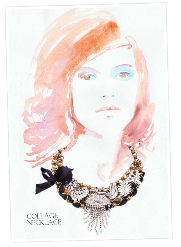 Lulu Frost jewelry: ornate mixed material statement necklace!Frostings Bitten, Artists Flair, Frostings Jewelry, Art Inspiration, Frostings Bring, Art Ideas, Painting Style, Illustration Style, Lulu Frostings