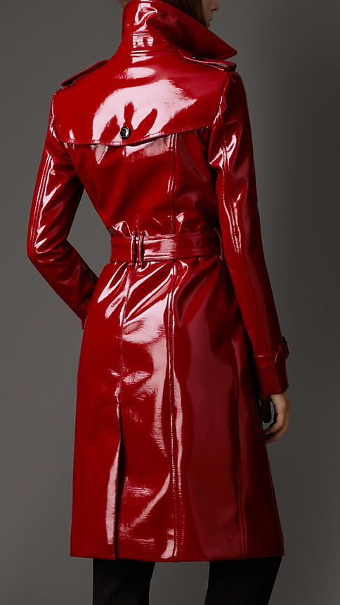 Jacket with similar shape, color and material, except brighter and waist-length.