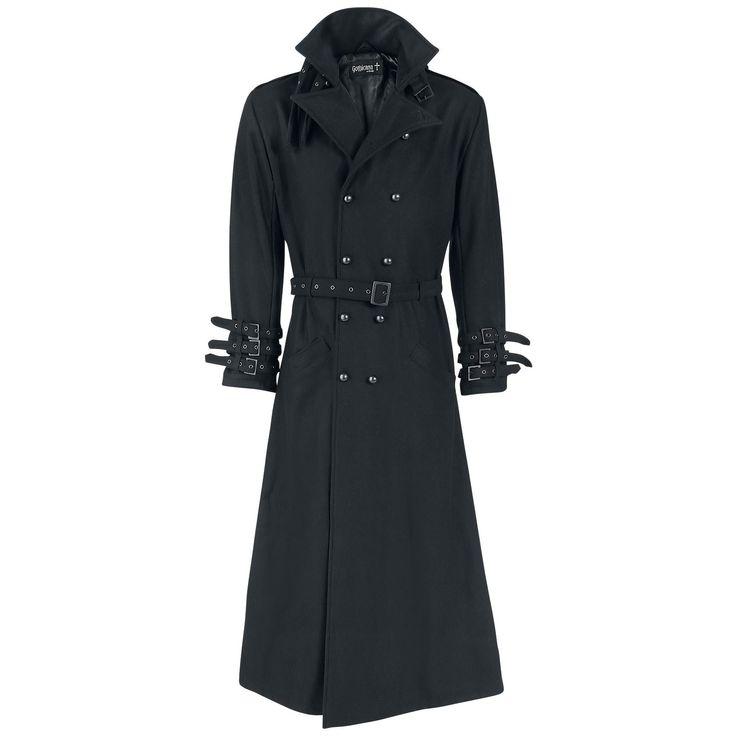 129,99 €  Gothicana by EMP  Legerjas  »Black Rider Coat« | Nu te koop bij Large | Meer Basics  Legerjassen online beschikbaar - De beste prijs!