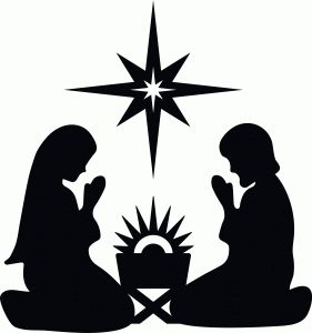 Silhouette Design Store: nativity with star