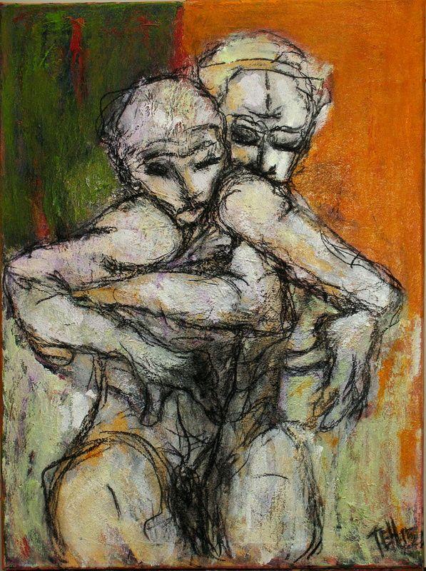 Acrílico sobre tela 80x60 by Teh Sul, poema de Eugénio de Andrade