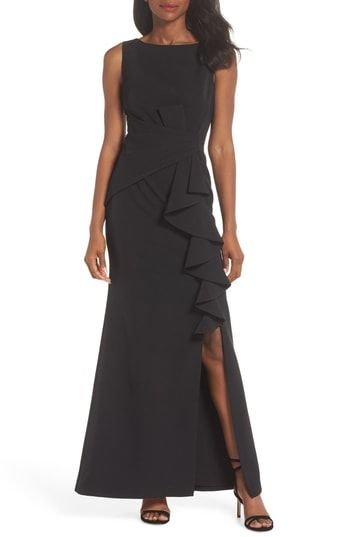 Eliza J Ruffle Front Gown | Most Stylish