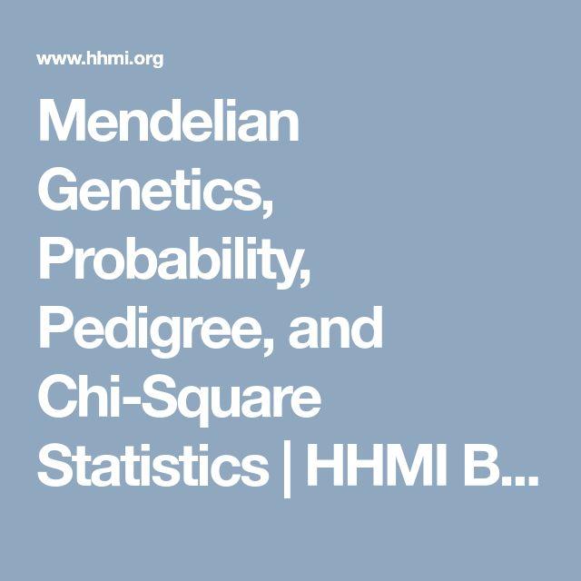 Mendelian Genetics, Probability, Pedigree, and Chi-Square Statistics | HHMI BioInteractive