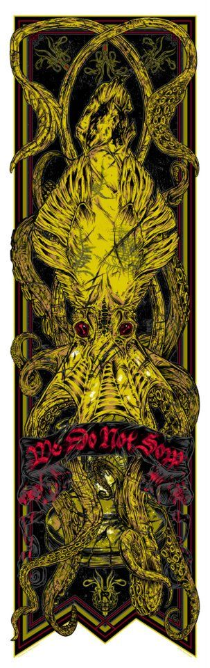 Game of Thrones House Greyjoy Banner Art by Rhys Cooper