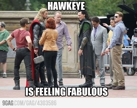 Hawkeye is feeling fabulous!: Laughing, Marvel, Stuff, Jeremy Renner, Captain America, Feelings Fabulous, Funny, The Avengers, Hawkeye