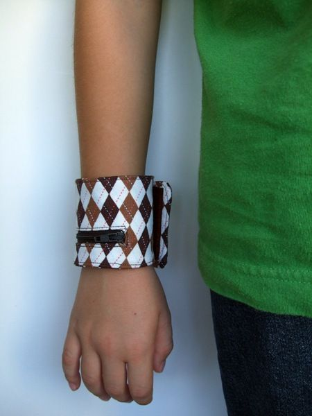 Boy cuff for money or such.  This is my favorite tutorial!  My 6 year old son and 12 year old nephew love theirs!