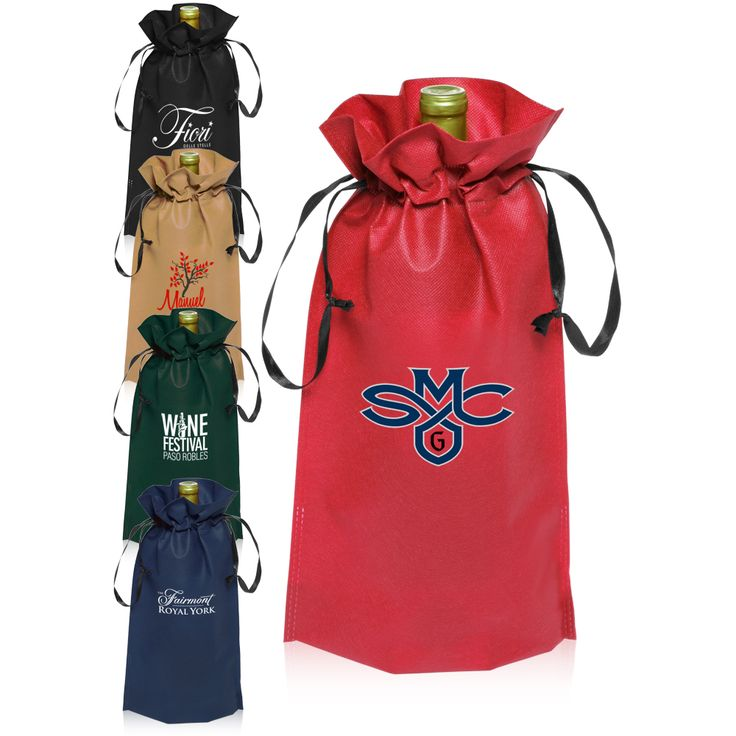Drawstring Bag With Water Bottle Holder | Bags More