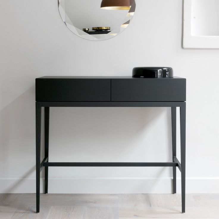 Cabinet - byrå med lådor i svartbetsad ask http://www.mintfurnitureshop.se/black-edition