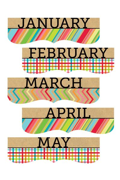Monthly Calendar Headings : Images about classroom decor on pinterest back to